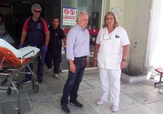 Επίσκεψη Ανδριανού στις Νοσηλευτικές Μονάδες Ναυπλίου και Άργους μετά το χθεσινό περιστατικό ξυλοδαρμού γιατρού