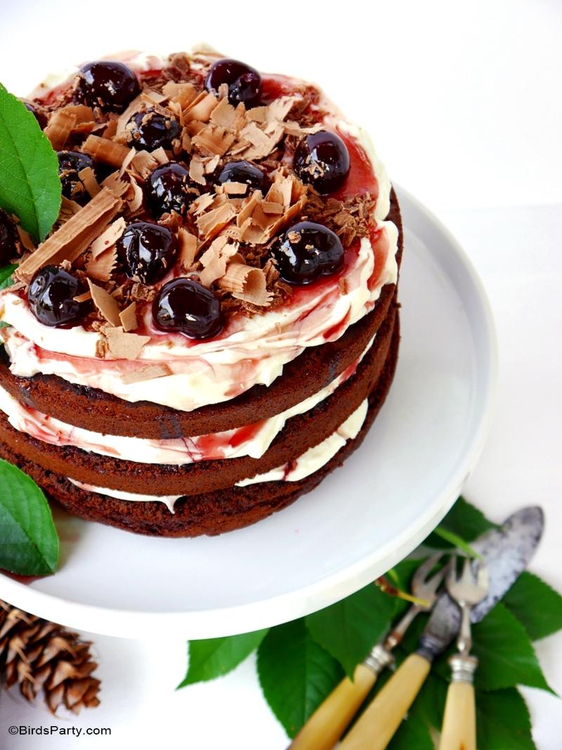 Easy Black Forest Gateau Cake Recipe - BirdsParty.com