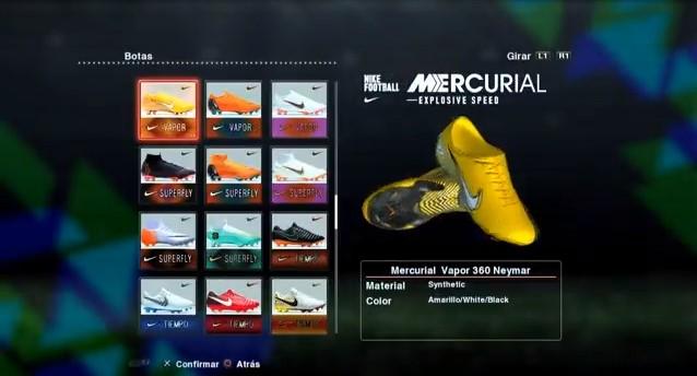 Nike Mercurial Vapor XII Neymar 2017-2018 PES 2013