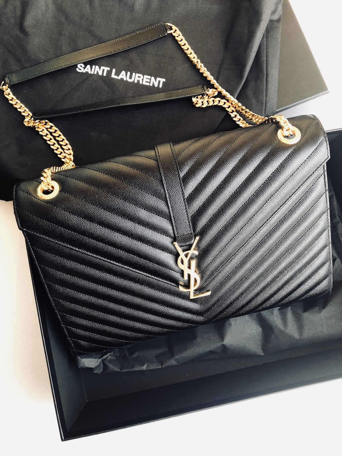 www.ourdubailife.com - Unboxing Day : What I Got For XMAS 2017 YSL handbag