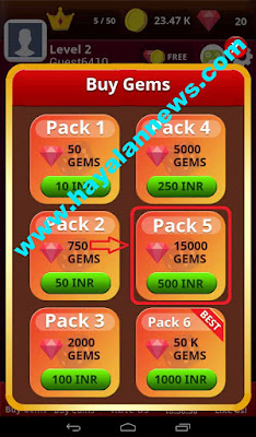 Tutorial cara mendapatkan 15000 gems pack game ludo bing terpopuler