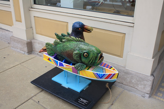 Bird 'N Bass Boat Public Art Piece in Racine, Wisconsin