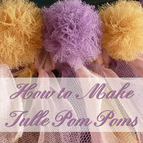 How to Make Tulle Pom Poms: Fast and Easy Method Great for Weddings, Baby Showers, Parties, Decorations and More by CraftyMarie