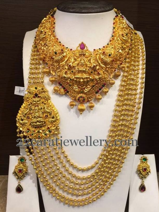 Huge Haram And Necklace Total Set Jewellery Designs