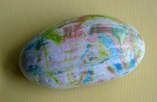 painted rocks, shaving cream, acrylic paint