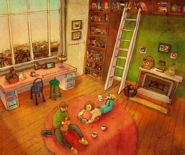 Aşk tüm günü evde birlikte geçirmektir