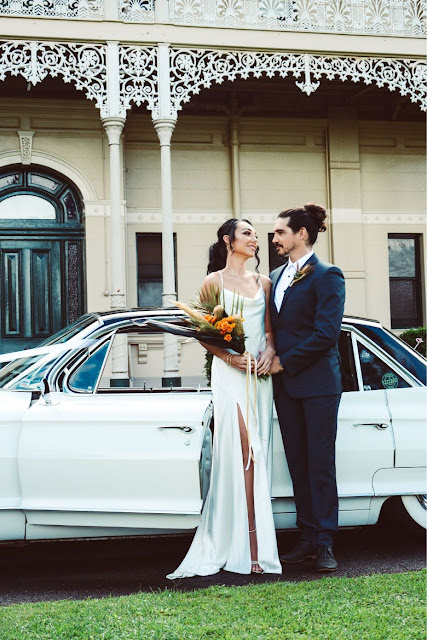 beckie g photography brisbane weddings black gown florals