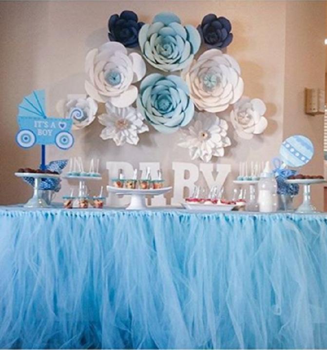 lindas decoraciones con paneles de flores de papel para tu