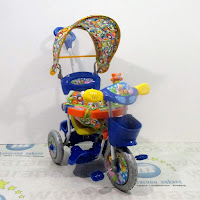 royal ry1082cj classic baby tiger kanopi jok kain tricycle