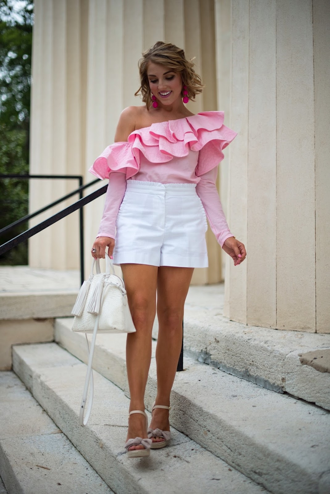J.Crew Ruffle Shorts - Click through to see more on Something Delightful Blog!