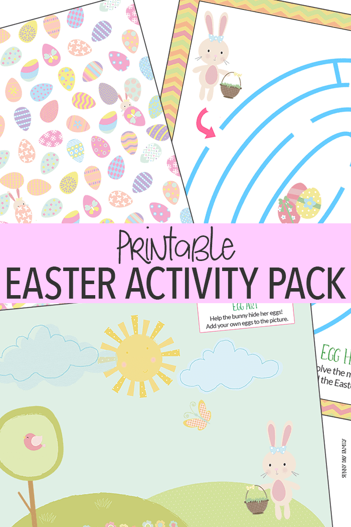 Super cute printable Easter activities - includes an Easter maze, Easter egg find it, and Easter drawing prompt. Perfect for the preschool classroom, Easter parties, or Easter baskets. So fun!