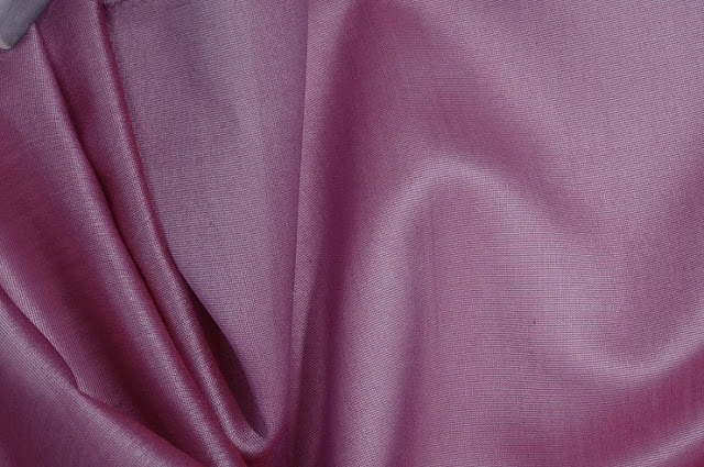 Faded Violet Cotton Silk Fabric