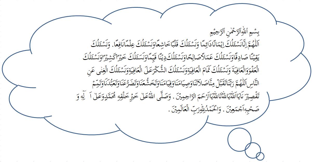Setelah Shalat sunnah dilakukan lanjutkanlah dengan membaca do'a berikut ini...
