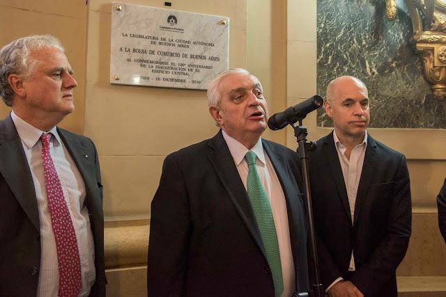 Homenaje de la Legislatura Porteña al Palacio Bursátil