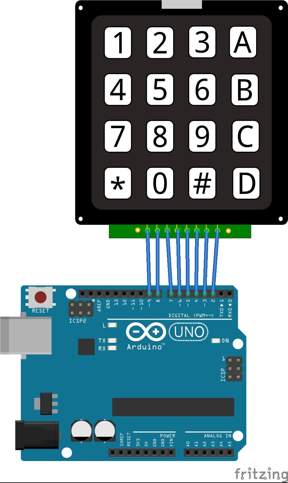 Arduino tuş takımı uygulaması elektrik elektronik