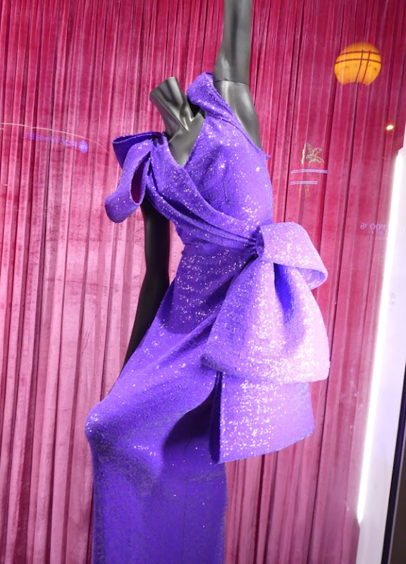 RuPauls Drag Race purple judging gown