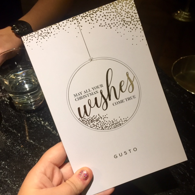 Gusto Manchester A/W Menu Review