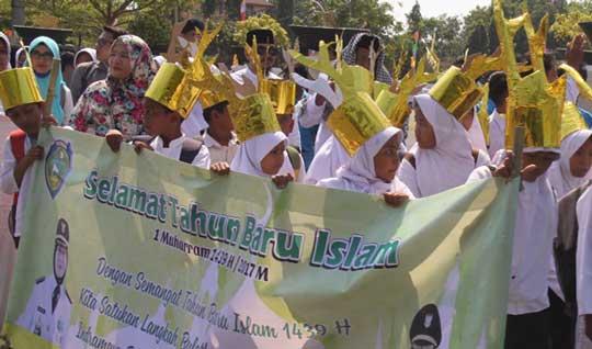 skpd dan pelajar indramayu peringati tahun baru islam