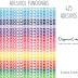 Adesivos coloridos funcionais para planner (1cmx1cm)