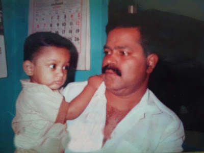 Asif Ali with his father