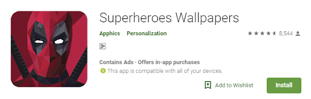 Aplikasi Wallpaper Superhero Terbaik Android