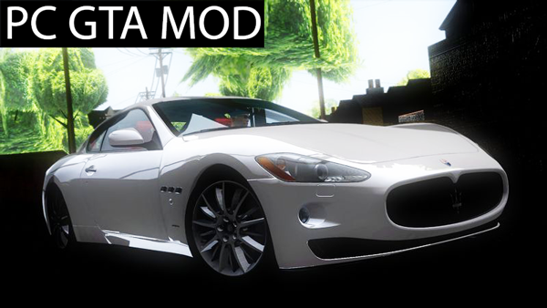 Free Download 2010 Maserati Gran Turismo S Spoiler Ver. Mod for GTA San Andreas