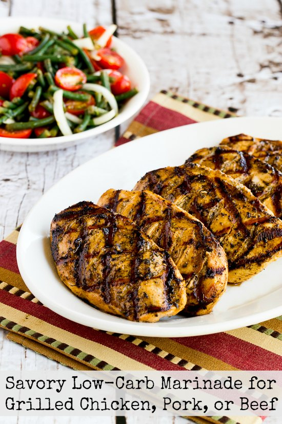 20 Low-Carb and Gluten-Free Dad-Friendly Grilling Ideas for Father's Day featured on KalynsKitchen.com