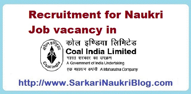 Naukri Vacancy Recruitment Coal India Limited