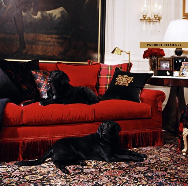 Ralph Lauren Living Room Photos: Color Outside The Lines: Ralph Lauren Home Collections