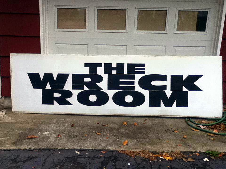 The old Wreck Room sign in Wallington, New Jersey