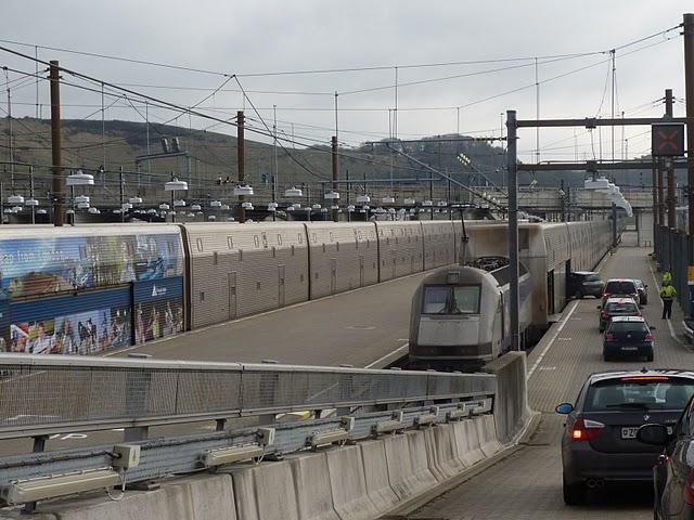 Entrada de veículos no Eurotúnel