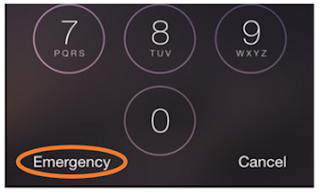 emergency button from lock screen