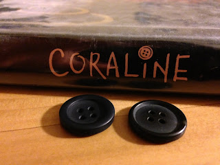 coraline book image with buttons