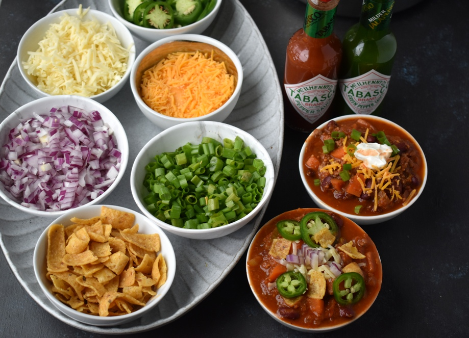 Ultimate chili bar toppings