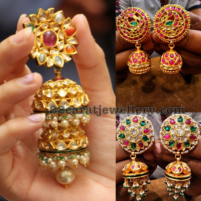 Contemporary Kundan Jhumkas