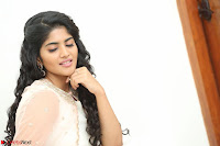 Megha Akash in beautiful Cream Transparent Anarkali Dress at Pre release function of Movie LIE ~ Celebrities Galleries 098.JPG