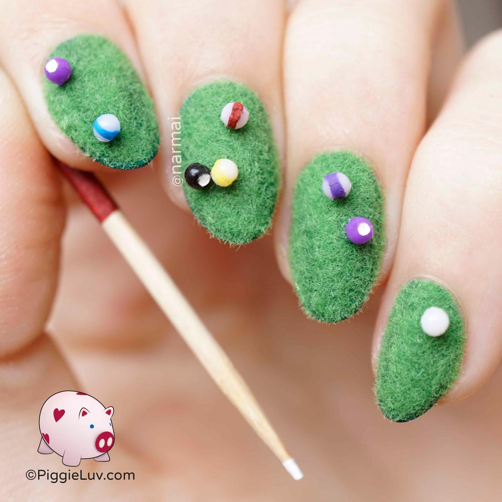 PiggieLuv: Pool table nail art