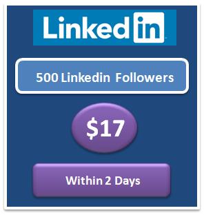 500 boost Linkedin followers