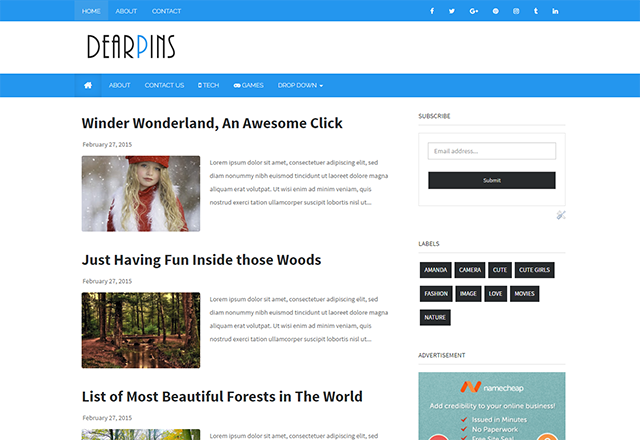 Dearpins magazine responsive blogger template                                                                                                                                                                                                                                                                                                                                                                                                                                                                                                                                                                                            http://blogger-templatees.blogspot.com/2016/05/dearpins.html