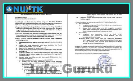 Download Syarat Dan Ketentuan Cara Mendapatkan NUPTK 2018