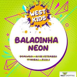 West Shopping diverte a criançada com evento gratuito 'Baladinha Neon'