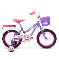 Sepeda Anak Wimcycle Disney Rapunzel CTB 18 Inci Lisensi