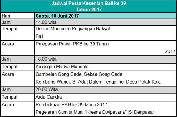 Klik disini untuk Jadwal Lengkap PKB 2017