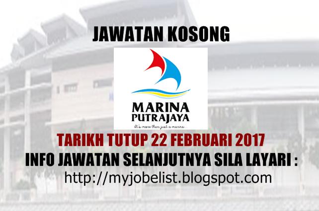 Jawatan Kosong Marina Putrajaya Sdn Bhd Februari 2017