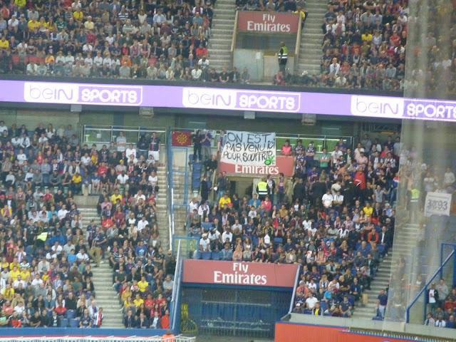 banderoles des supporters toulousains au parc des princes