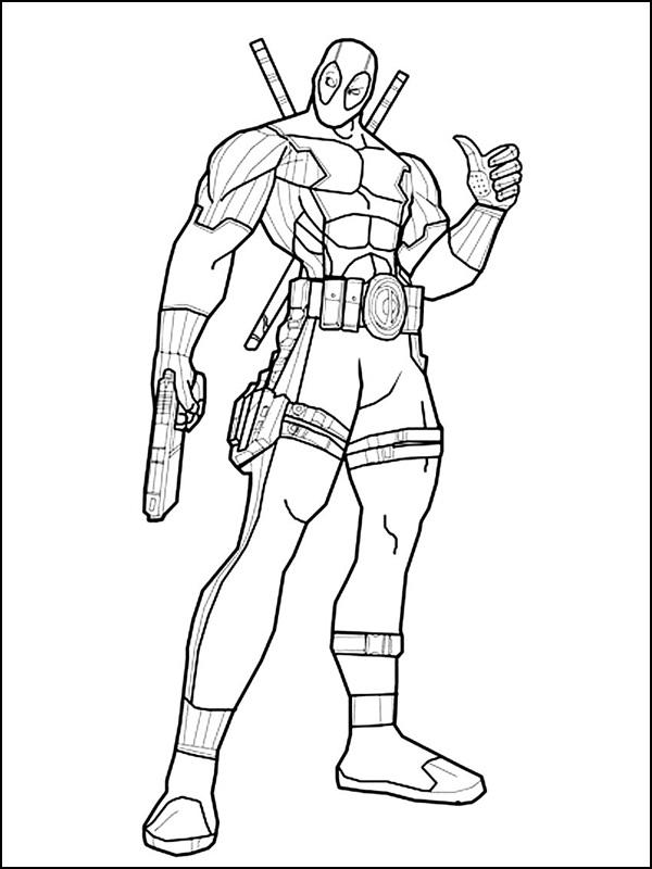 Desenhos Do Deadpool Para Colorir