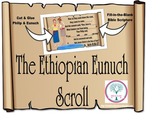Free Printable Kids Craft On Philip And The Ethiopian