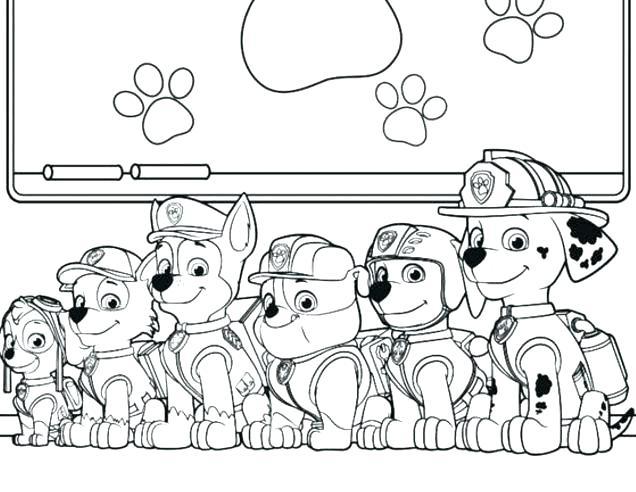 paw patrol ausmalbilder # 23