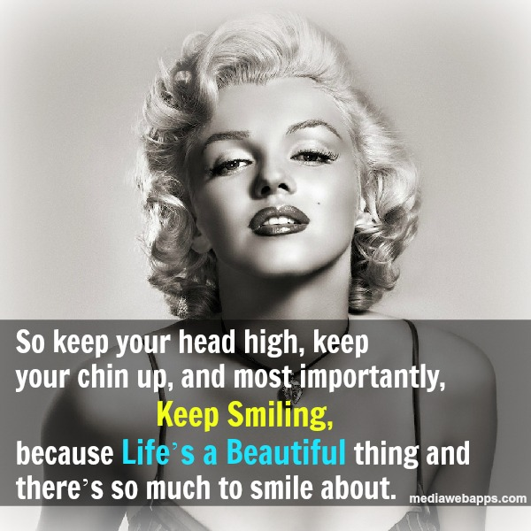 Marilyn Monroe Quotes Smile Life Is Beautiful. QuotesGram