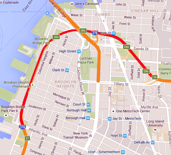 mcbrooklyn: BQE Closure Will Reroute Traffic in Brooklyn Heights